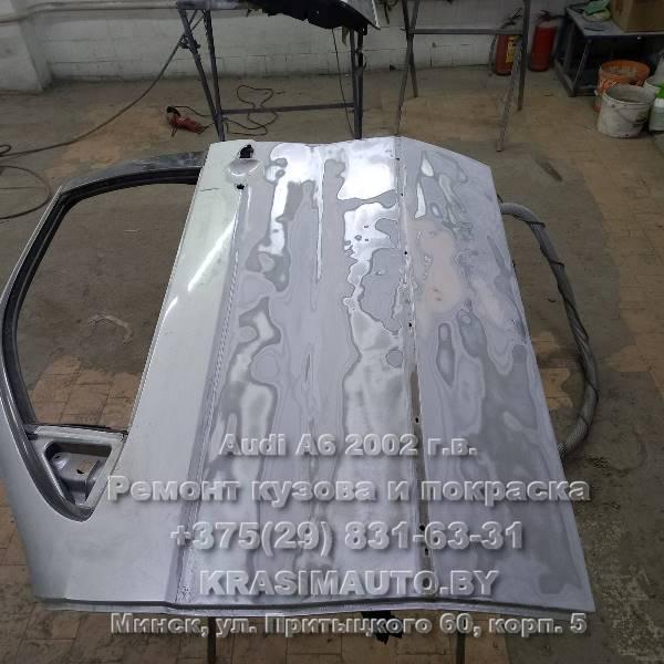 Audi a6 2002 г.в. чистка от коррозии