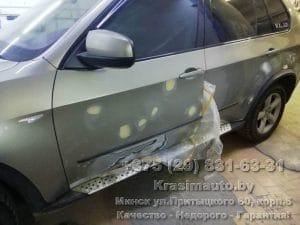 BMW X5 2012 удаление ржавчины с дверей СТО в Минске