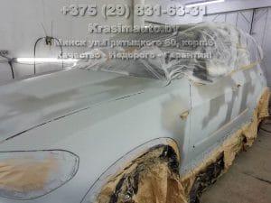 BMW X5 2012 подготовка к покраске кузова