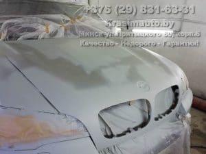 BMW X5 2012 подготовка капота к покраске