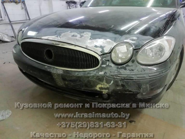 Buick Allure рихтовка капота в Минске