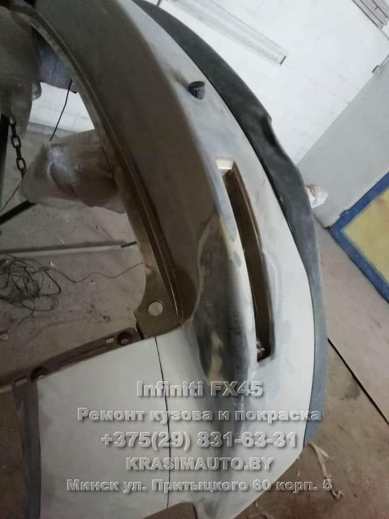 ремонт бампера Infiniti FX45 2003 г.в.