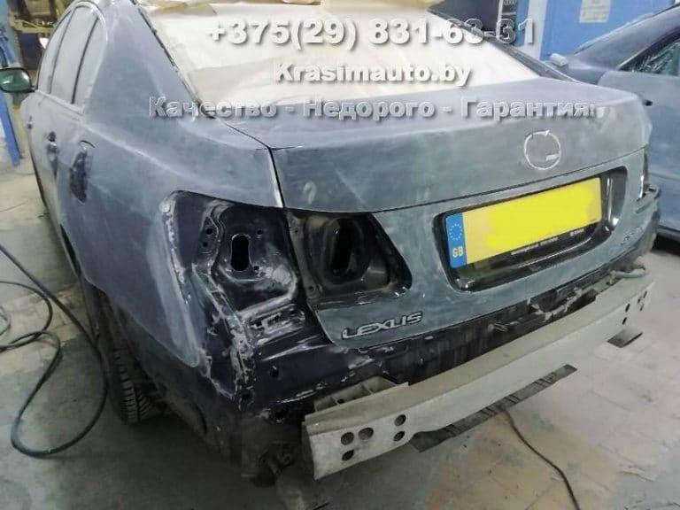 Лексус ГС 300 2012 г.в ремонт кузова после ДТП