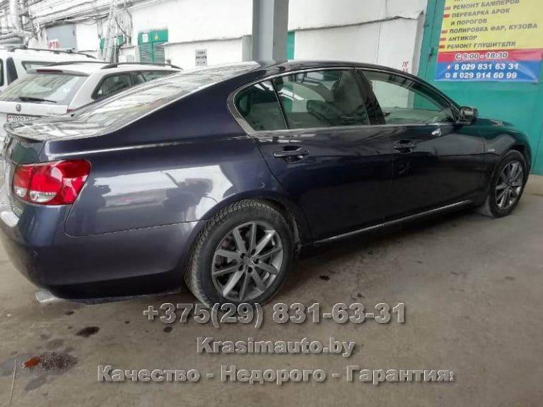 lexus GS 300 2012 г.в. после ремонта кузова