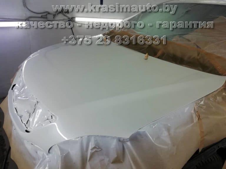 Lexus RX 350 покраска капота после ДТП