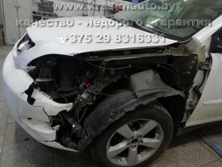 Lexus RX 350 замена крыла после ДТП