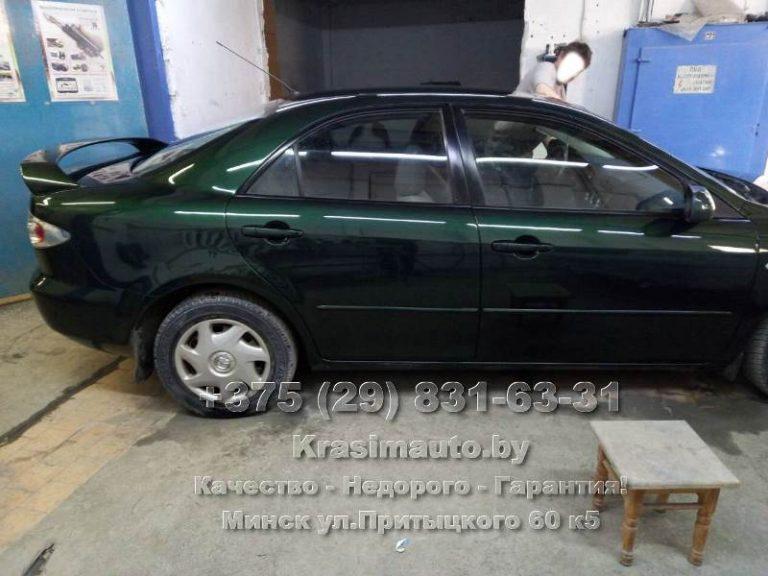Mazda6 2002 г.в. покраска кузова в Минске