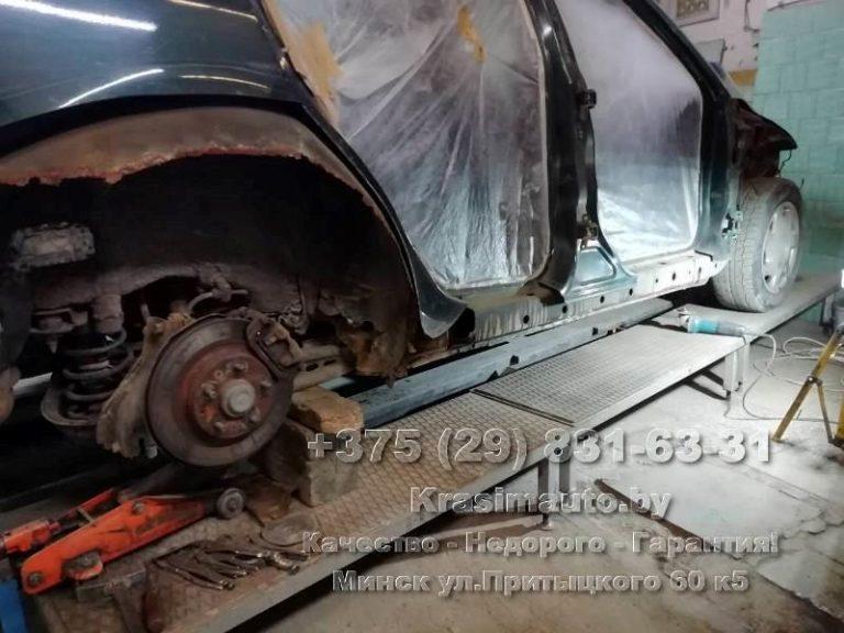 Mazda6 2002 г.в. ремонт и покраска кузова в Минске
