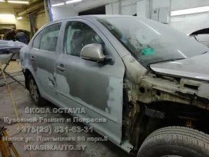 skoda octavia 2012 г.в. чистка от ржавчины кузова