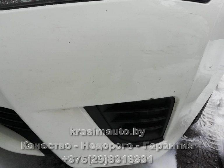Toyota Avensis ремонт бампера без покраски
