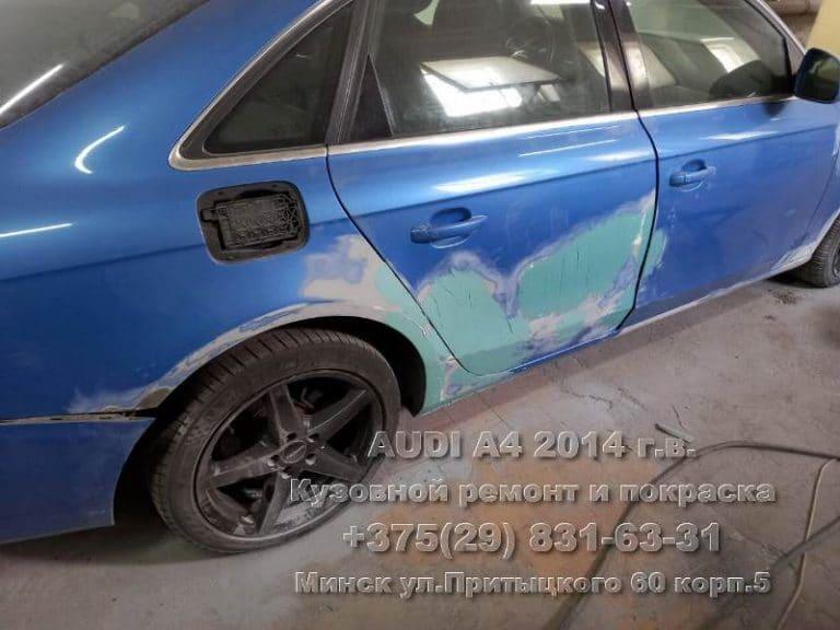 Audi A4 2014 г.в. восстановление двери