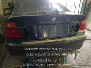 Замена крышки багажника BMW 330D