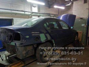 BMW 330D ремонт крыла