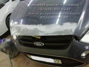 Ford S-max покрытие эпоксидным грунтом капота