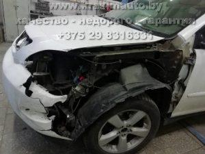 кузовной ремонт и покраска Lexus RX350 на СТО