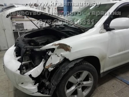 ремонт кузоваLexus RX350 после ДТП +375298316331