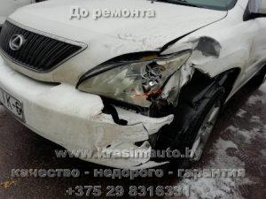 кузовной ремонт и покраска Lexus RX350 после дтп