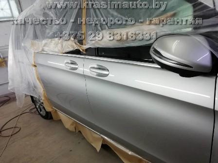 Mercedes Benz Gl красим двери авто в Минске