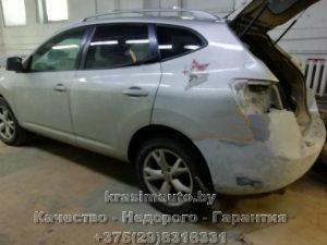 Ремонт и покраска бамперов Nissan Rogue на СТО в Минске +375298316331