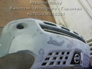 восстановление переднего бампера Nissan Rogue в Минске