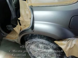Nissan X-Trail покраска заднего крыла