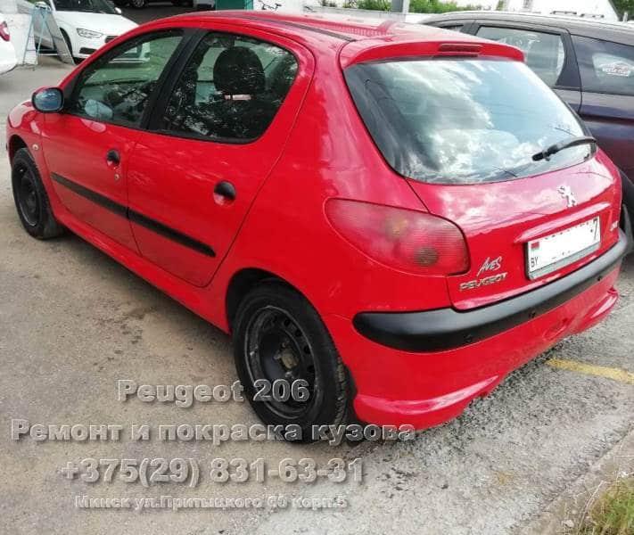 покраска в камере Peugeot 206