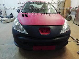 кузовной ремонт и покраска Peugeot 206 на СТО в Минске