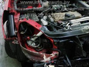 вытяжка передней части Peugeot 206