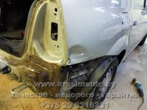 Ремонт кузова Renault Logan