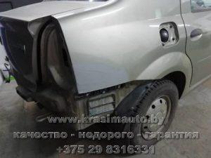 Ремонт кузова и покраска Renault Logan