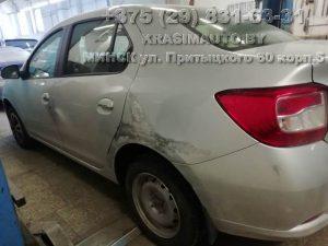 Ремонт кузова Renault LOGAN 2017 в Минске