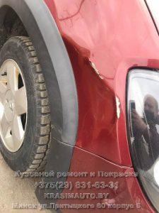 Renault Stepway 2013 г.в. вмятина на крыле после ДТП