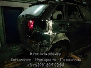 ремонт крыла Seat Ibiza СТО в Минске +375298316331