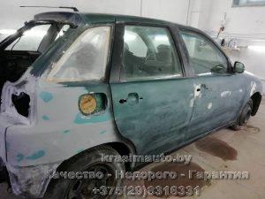 покраска кузова Seat Ibiza СТО в Минске +375298316331