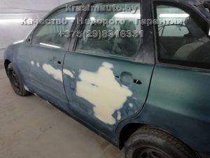 Seat Ibiza покраска дверей на СТО в Минске +375298316331