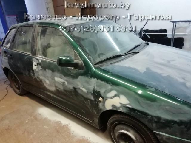 Seat Ibiza покраска кузова на СТО в Минске +375298316331
