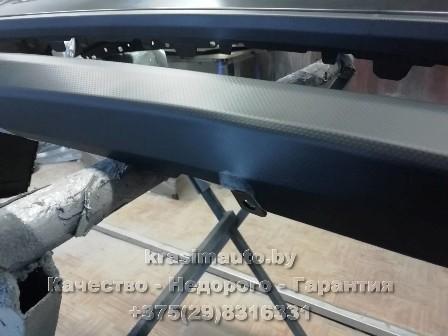 Subaru Forester ремонт и покраска бампера на СТО в Минске +375298316331
