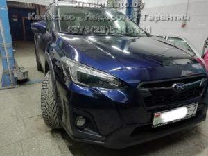 Subaru Forester ремонт бампера, крыла, пайка фары, покраска бампера на СТО в Минске +375298316331