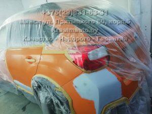 Subaru SV - ремонт бампера и дверей в Минске