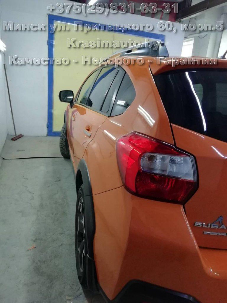 Subaru SV - покраска бампера и дверей в Минске