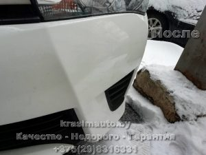 ремонт бампера без покраски Toyota Avensis