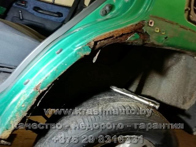Toyta Rav 4 сварка арки покраска проёма и крыла СТО в Минске +375298316331